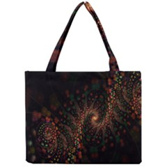 Multicolor Fractals Digital Art Design Mini Tote Bag
