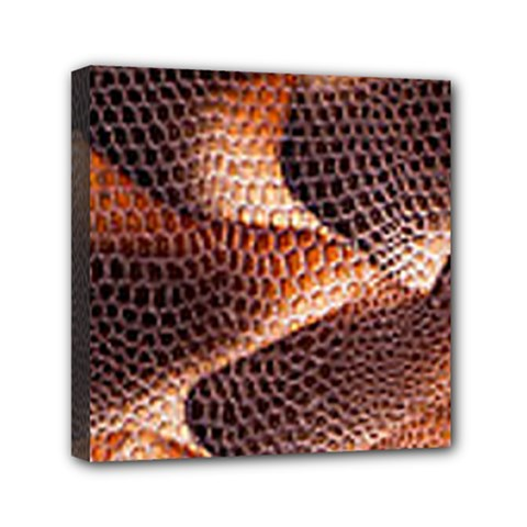 Snake Python Skin Pattern Mini Canvas 6  X 6