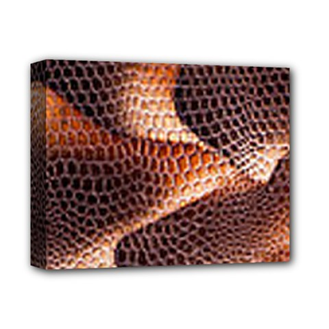 Snake Python Skin Pattern Deluxe Canvas 14  X 11