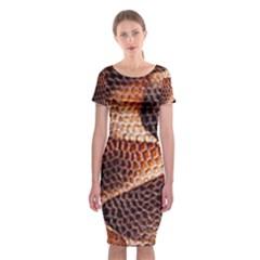 Snake Python Skin Pattern Classic Short Sleeve Midi Dress
