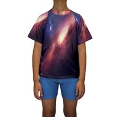 Digital Space Universe Kids  Short Sleeve Swimwear