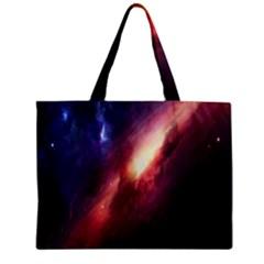 Digital Space Universe Zipper Mini Tote Bag