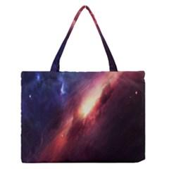 Digital Space Universe Medium Zipper Tote Bag