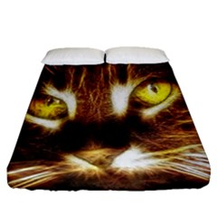 Cat Face Fitted Sheet (queen Size) by BangZart