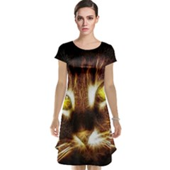 Cat Face Cap Sleeve Nightdress
