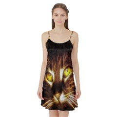 Cat Face Satin Night Slip