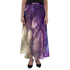 Cartoons Video Games Multicolor Flared Maxi Skirt