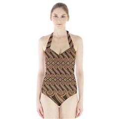Batik The Traditional Fabric Halter Swimsuit
