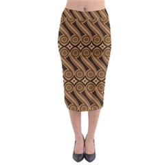 Batik The Traditional Fabric Midi Pencil Skirt
