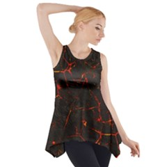 Volcanic Textures Side Drop Tank Tunic