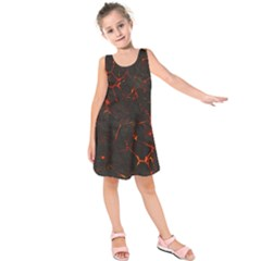 Volcanic Textures Kids  Sleeveless Dress