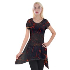 Volcanic Textures Short Sleeve Side Drop Tunic