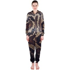 Snake Skin Olay Hooded Jumpsuit (ladies)