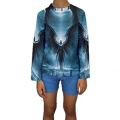 Rising Angel Fantasy Kids  Long Sleeve Swimwear