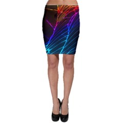 Cracked Out Broken Glass Bodycon Skirt