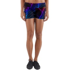 Cracked Out Broken Glass Yoga Shorts