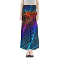 Cracked Out Broken Glass Full Length Maxi Skirt