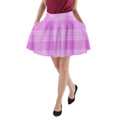 Seamless Tartan Pattern A Line Pocket Skirt by BangZart