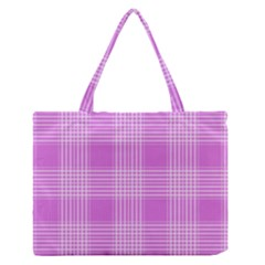 Seamless Tartan Pattern Medium Zipper Tote Bag