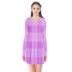 Seamless Tartan Pattern Flare Dress
