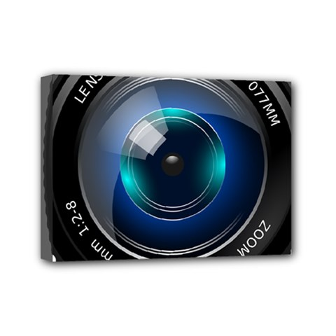 Camera Lens Prime Photography Mini Canvas 7  X 5