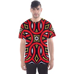 Traditional Art Pattern Men s Sports Mesh Tee