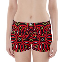 Traditional Art Pattern Boyleg Bikini Wrap Bottoms