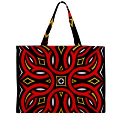 Traditional Art Pattern Medium Zipper Tote Bag by BangZart