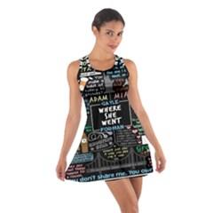 Book Quote Collage Cotton Racerback Dress
