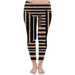 Wooden Pause Play Paws Abstract Oparton Line Roulette Spin Classic Winter Leggings