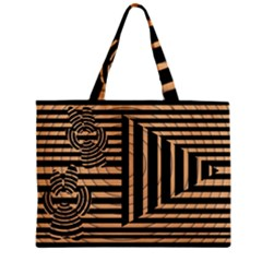 Wooden Pause Play Paws Abstract Oparton Line Roulette Spin Zipper Mini Tote Bag by BangZart