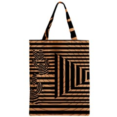 Wooden Pause Play Paws Abstract Oparton Line Roulette Spin Zipper Classic Tote Bag by BangZart