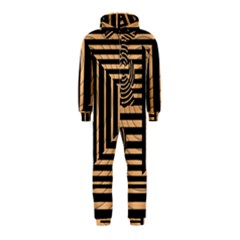 Wooden Pause Play Paws Abstract Oparton Line Roulette Spin Hooded Jumpsuit (kids)