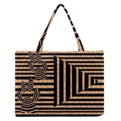 Wooden Pause Play Paws Abstract Oparton Line Roulette Spin Medium Zipper Tote Bag by BangZart