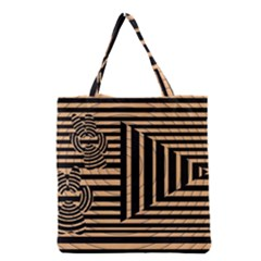 Wooden Pause Play Paws Abstract Oparton Line Roulette Spin Grocery Tote Bag
