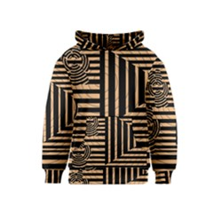 Wooden Pause Play Paws Abstract Oparton Line Roulette Spin Kids  Pullover Hoodie
