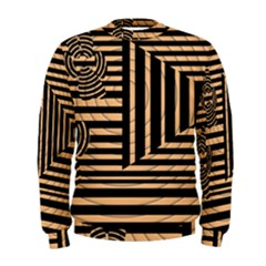 Wooden Pause Play Paws Abstract Oparton Line Roulette Spin Men s Sweatshirt