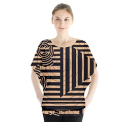 Wooden Pause Play Paws Abstract Oparton Line Roulette Spin Blouse