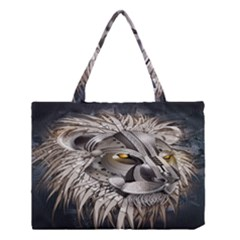Lion Robot Medium Tote Bag by BangZart
