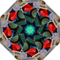 Stones Colors Pattern Pebbles Macro Rocks Folding Umbrellas by BangZart