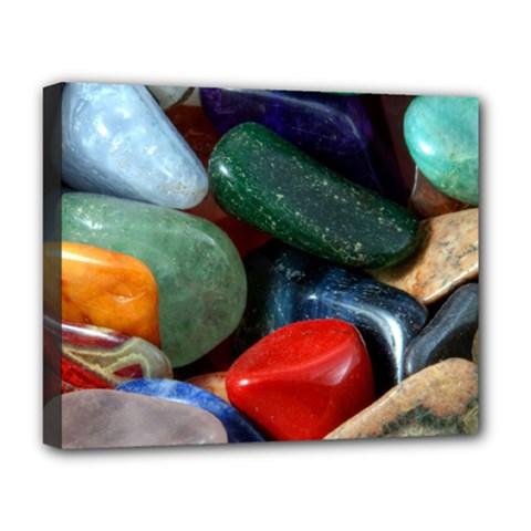 Stones Colors Pattern Pebbles Macro Rocks Deluxe Canvas 20  X 16