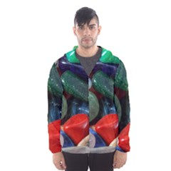 Stones Colors Pattern Pebbles Macro Rocks Hooded Wind Breaker (men)