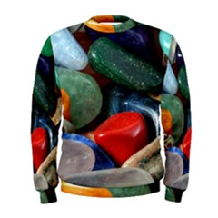 Stones Colors Pattern Pebbles Macro Rocks Men s Sweatshirt