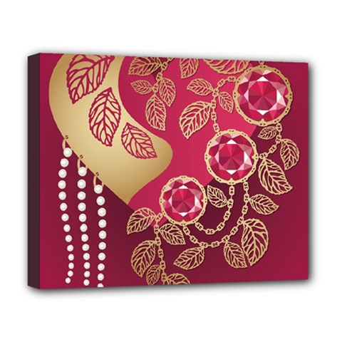Love Heart Deluxe Canvas 20  X 16   by BangZart
