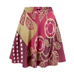 Love Heart High Waist Skirt