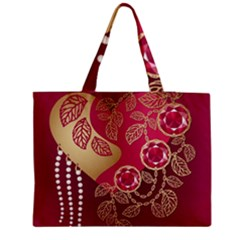 Love Heart Medium Zipper Tote Bag by BangZart