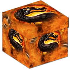 Dragon And Fire Storage Stool 12