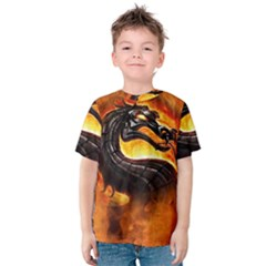 Dragon And Fire Kids  Cotton Tee