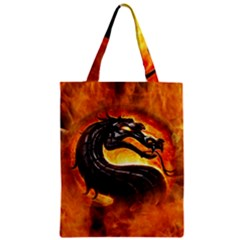 Dragon And Fire Classic Tote Bag by BangZart