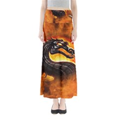 Dragon And Fire Full Length Maxi Skirt